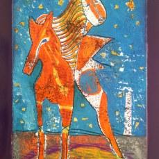 Lemoineau LE CORPS ASTRAL mixtechnique2016 40 x 50 cm